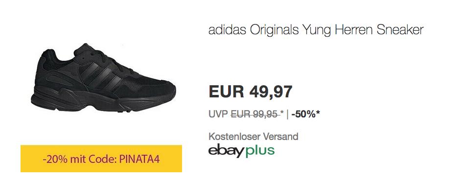 adidas Originals Yung96 Herren Sneaker, sc... für 39,97€ (-20%)