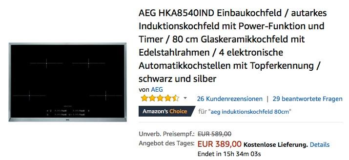 Aeg Hka8540ind Einbaukochfeld Autarkes In Fur 389 00 11