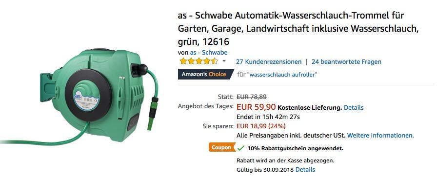 As Schwabe Automatik Wasserschlauch Trom Fur 53 91 36