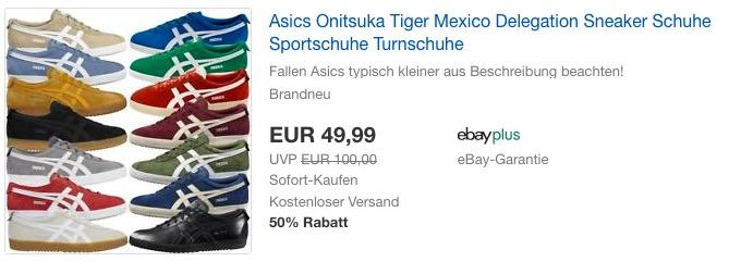 best authentic a4790 aec8e Asics Onitsuka Tiger Mexico Delegation Sne... für 49,99€ (-17%)
