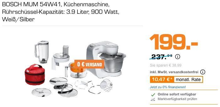 Bosch Mum 54w41 Kuchenmaschine In Weiss S Fur 199 00 16