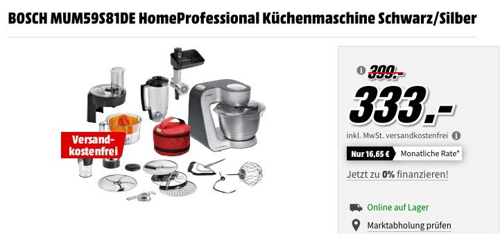 Bosch Mum59s81de Homeprofessional Küchenm Für 33300 17