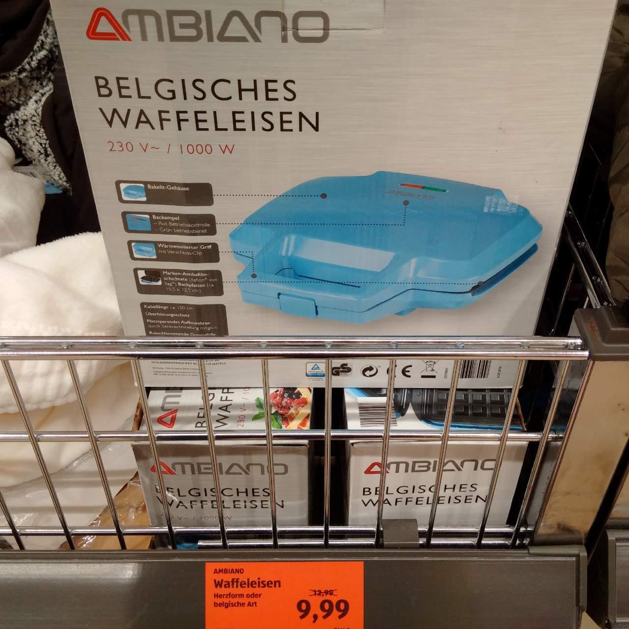 AMBIANO Belgisches Waffeleisen - jetzt 23% billiger