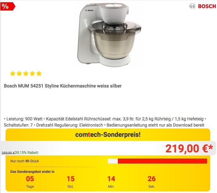Schn Bosch Kchenmaschine Mum  Zeitgenssisch  Die Besten