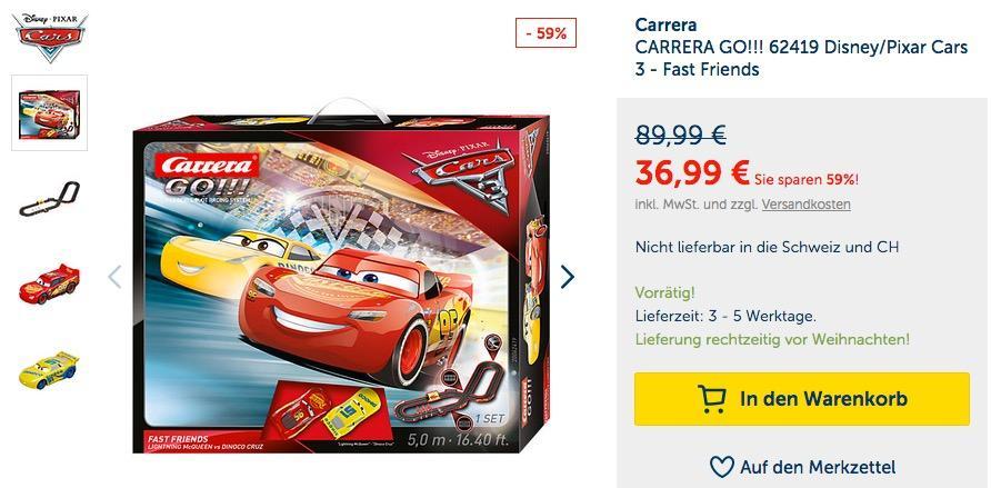 Carrera CARRERA GO!!! 62419 Disney/Pixar Cars 3 - Fast Friends - jetzt 32% billiger