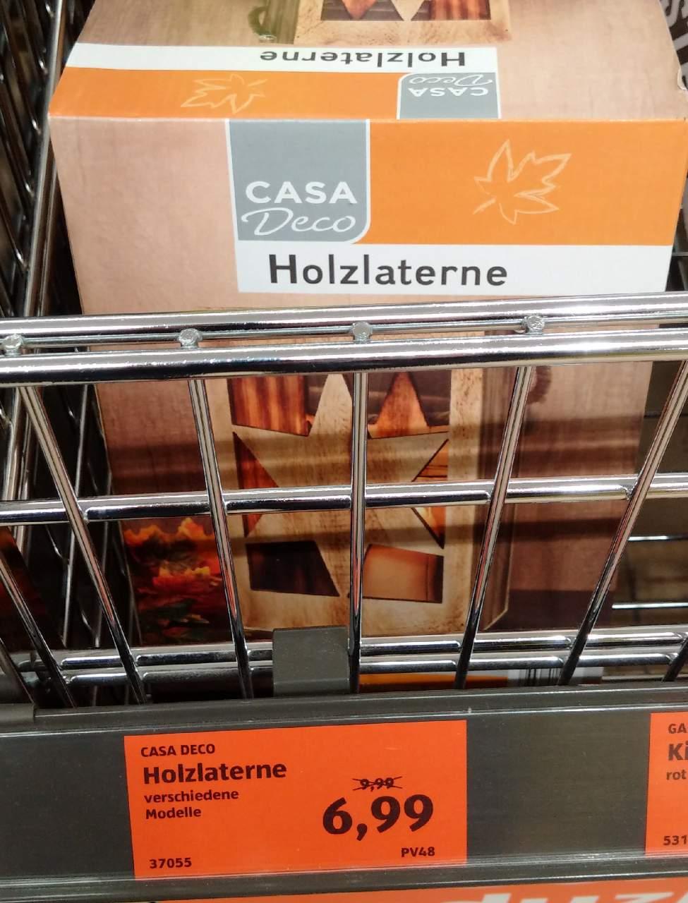 CASA Deco Holzlaterne - jetzt 30% billiger