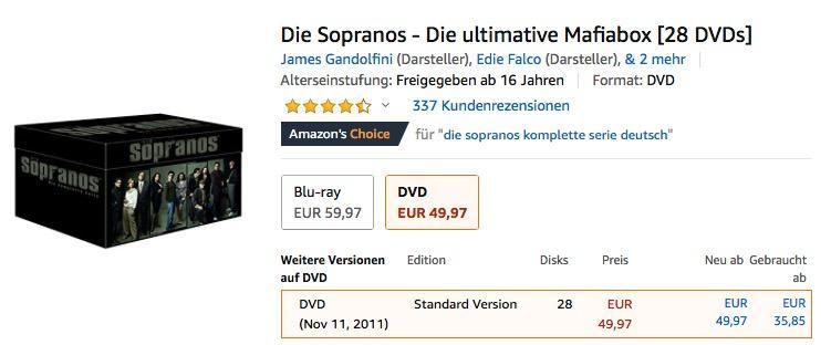 Die Sopranos - Die ultimative Mafiabox [28 DVDs] - jetzt 13% billiger