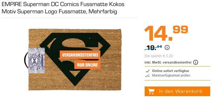 EMPIRE Superman DC Comics Fussmatte - jetzt 7% billiger