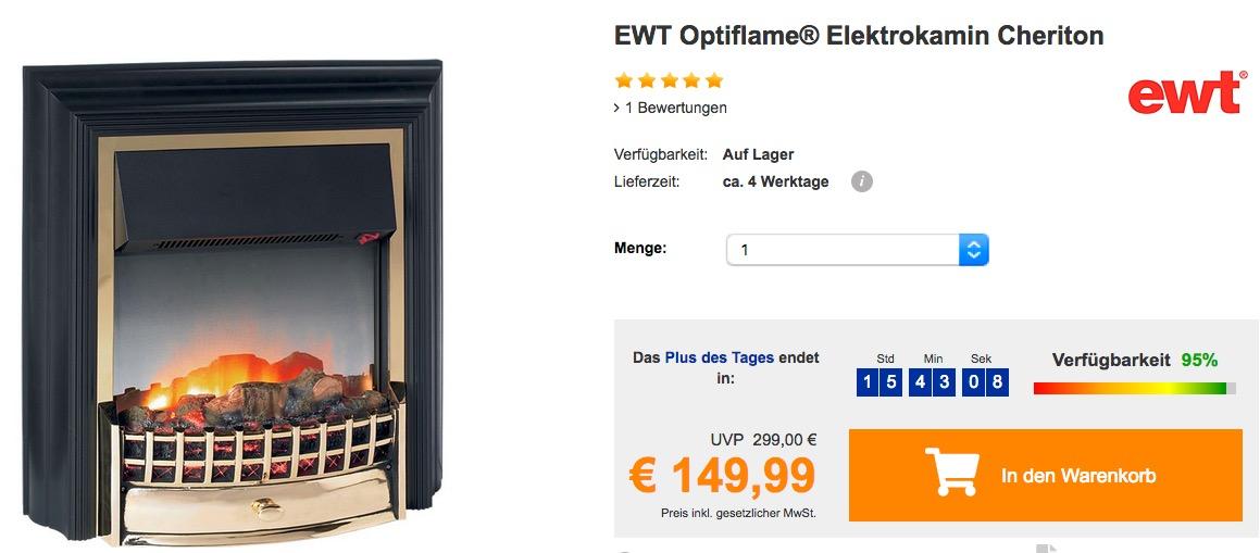 EWT Optiflame® Elektrokamin Cheriton - jetzt 17% billiger