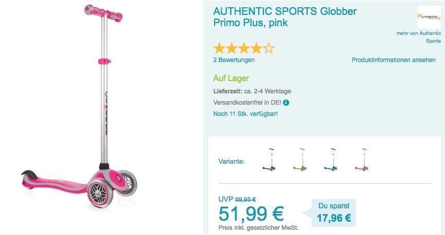 Globber Primo Plus Roller in verschiedenen Farben - jetzt 13% billiger