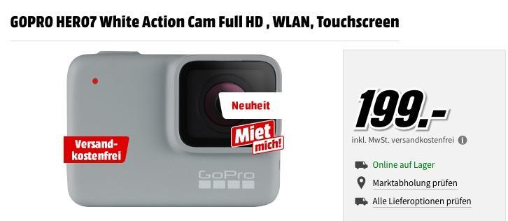 GOPRO HERO7 White Action Cam Full HD , WLAN, Touchscreen - jetzt 10% billiger