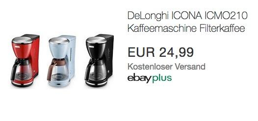 ICONA ICMO210 Kaffeemaschine Filterkaffee 1000W - jetzt 64% billiger