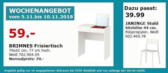 IKEA Bielefeld - BRIMMES Frisiertisch - jetzt 16% billiger