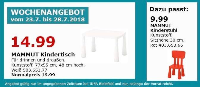 Ikea Bielefeld Mammut Kindertisch Fur 14 99 25