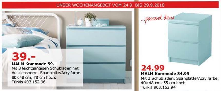 ikea d sseldorf malm kommode t rkis f r 39 00 34. Black Bedroom Furniture Sets. Home Design Ideas