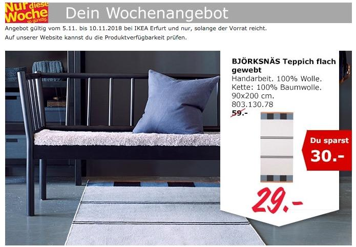 ikea erfurt bj rksn s teppich f r 29 00 51. Black Bedroom Furniture Sets. Home Design Ideas