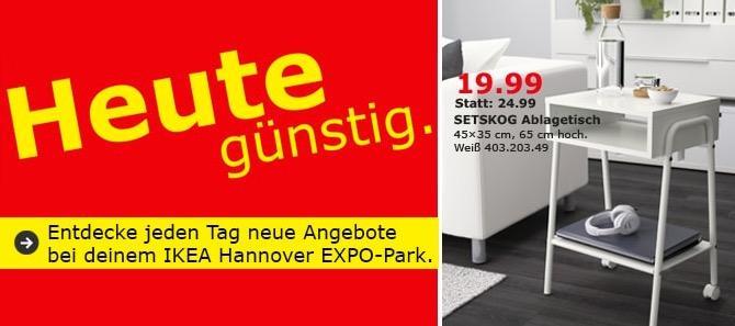 IKEA EXPO-Park Hannover - SETSKOG Ablagetisch - jetzt 20% billiger