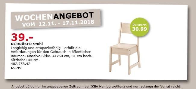 IKEA Hamburg-Altona - MORRAKER Stuhl - jetzt 44% billiger