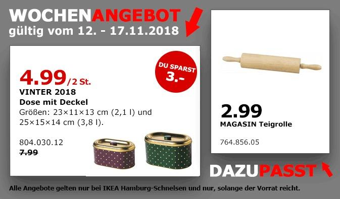 IKEA Hamburg-Schnelsen - VINTER 2018 Dose mit Deckel, 2,1 L und 3,8 L - jetzt 38% billiger
