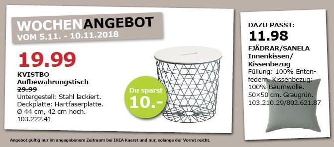 IKEA Kaarst - KVISTO Aufbewahrungstisch - jetzt 33% billiger