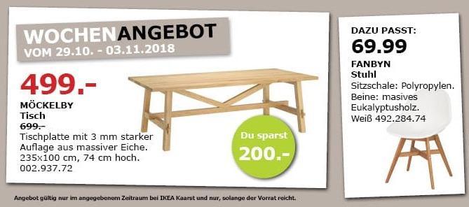 IKEA Kaarst - MÖCKELBY Tisch, 235x100 cm, 74 cm hoch - jetzt 29% billiger