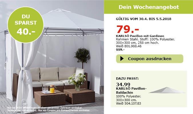 ikea karls pavillon mit gardinen f r 79 00 34. Black Bedroom Furniture Sets. Home Design Ideas