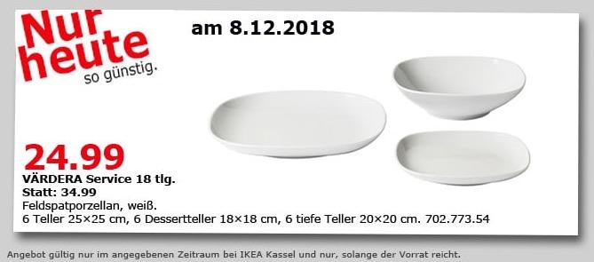 IKEA Kassel - VÄRDERA Service 18 tlg. - jetzt 29% billiger
