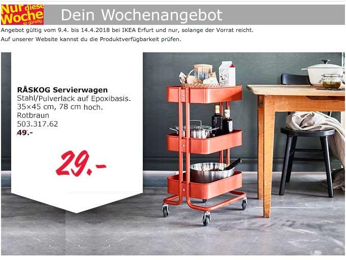 Ikea Servierwagen ikea raskog servierwagen für 29,00€ (-41%)