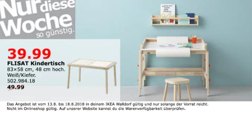 ikea walldorf flisat kindertisch f r 39 99 20. Black Bedroom Furniture Sets. Home Design Ideas