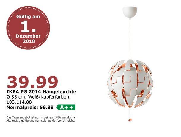 IKEA Walldorf - PS 2014 Hängeleuchte, 35 cm - jetzt 33% billiger
