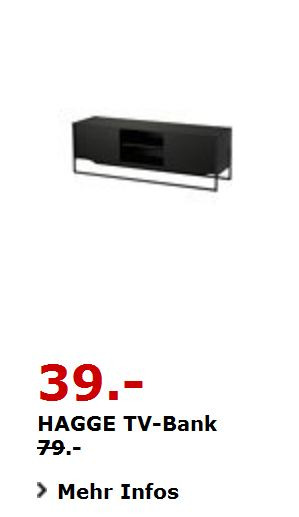 hagge tv bank schwarz 150 x 40cm 50cm hoc f r 39 00 51. Black Bedroom Furniture Sets. Home Design Ideas