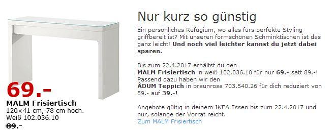 Ikea malm frisiertisch f r 69 00 22 - Frisiertisch malm ...