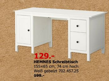ikea hemnes schreibtisch 155x65 cm 74 c f r 129 00 35. Black Bedroom Furniture Sets. Home Design Ideas