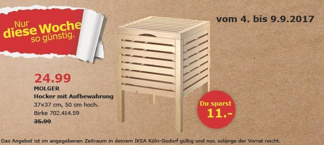 ikea molger hocker mit aufbewahrung 37x37 f r 24 99 31. Black Bedroom Furniture Sets. Home Design Ideas