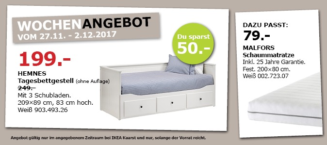 IKEA HEMNES Tagesbettgestell - jetzt 20% billiger
