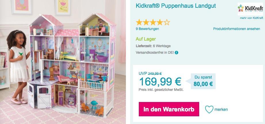 Kidkraft® Puppenhaus Landgut - jetzt 15% billiger