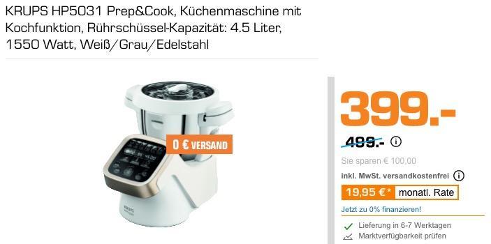 KRUPS HP5031 Prep&Cook Küchenmaschine - jetzt 16% billiger