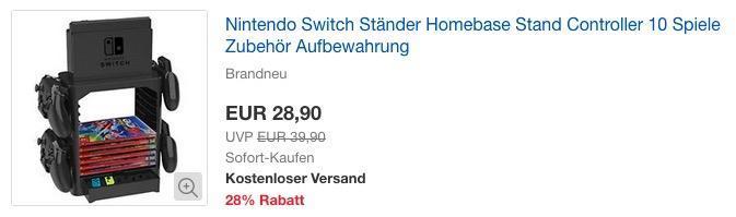 Nintendo Switch Ständer Homebase, Aufbewahrung für Controller, Spiele und Zubehör - jetzt 26% billiger