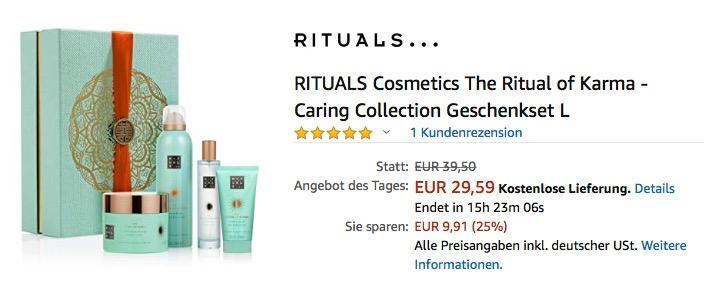 RITUALS Cosmetics The Ritual of Karma - Caring Collection Geschenkset L - jetzt 20% billiger