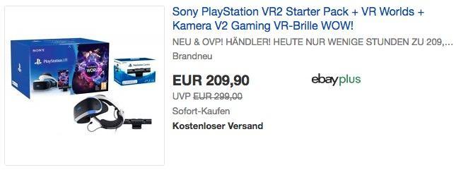 Sony PlayStation VR2 Starter Pack + VR Worlds + Kamera V2 Gaming VR-Brille - jetzt 42% billiger