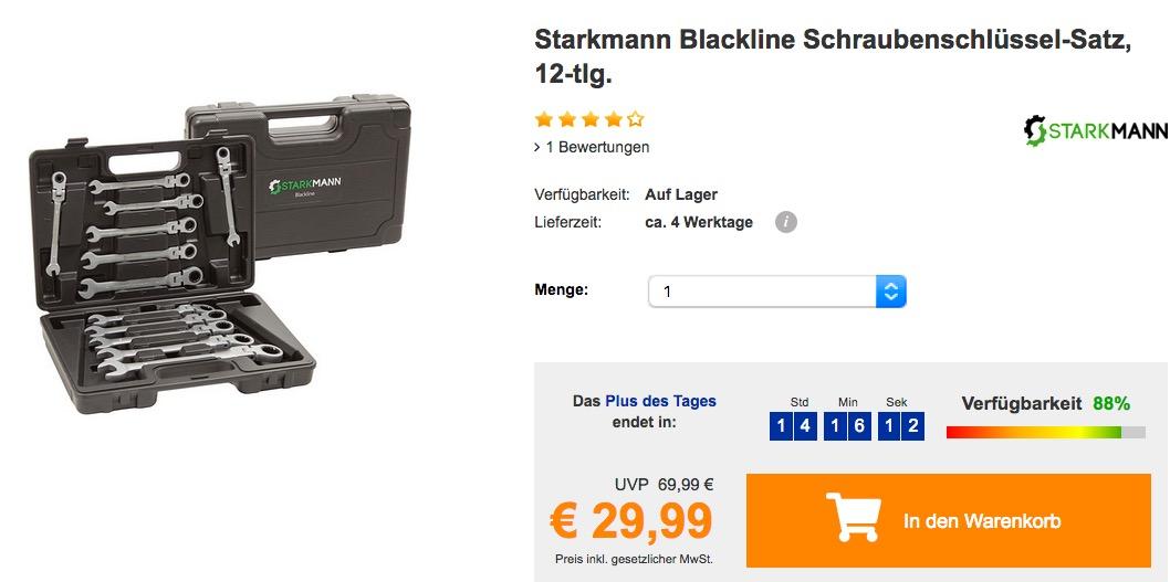 Starkmann Blackline Schraubenschlüssel-Satz, 12-tlg. - jetzt 19% billiger