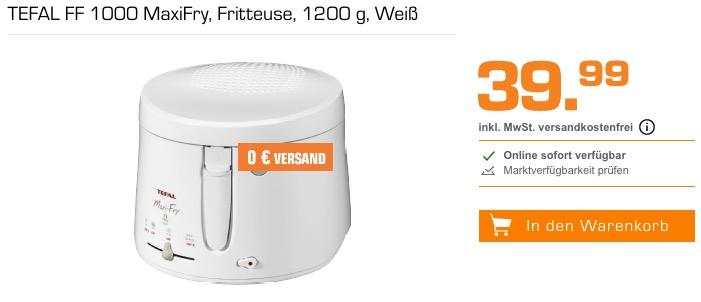 TEFAL FF 1000 MaxiFry Fritteuse - jetzt 7% billiger