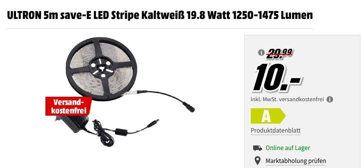 ULTRON 5m save-E LED Stripe Kaltweiß - jetzt 67% billiger