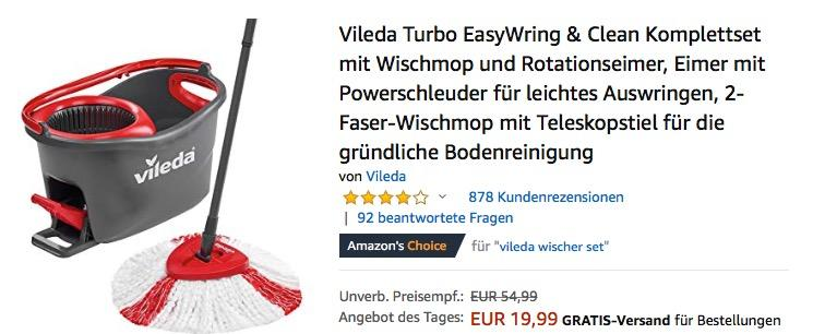 Vileda Turbo EasyWring & Clean Komplettset - jetzt 23% billiger