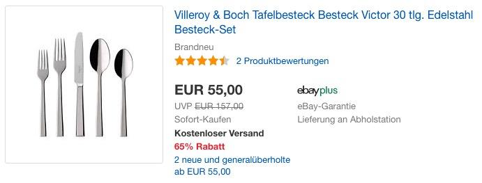 Villeroy & Boch Besteckset Victor 30 tlg. - jetzt 26% billiger