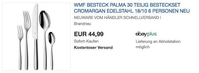 WMF Palma Besteckset, 30-teilig - jetzt 8% billiger
