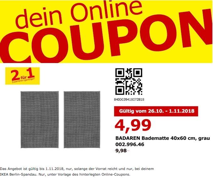 Ikea Berlin Spandau Badaren Badematte 2e Für 499 50