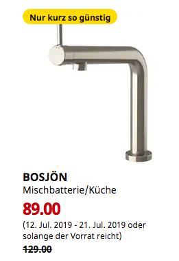 IKEA Berlin-Tempelhof - BOSJÖN Mischbatte... für 89,00€ (-31%)