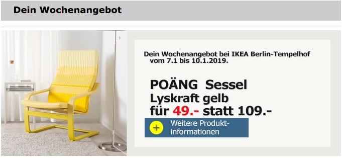 Ikea Berlin Tempelhof Poäng Sessel Lys Für 4900 55
