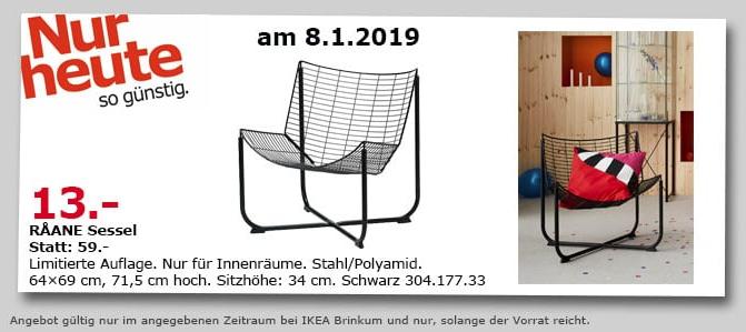 Ikea Brinkum Raane Sessel Schwarz Für 1300 78